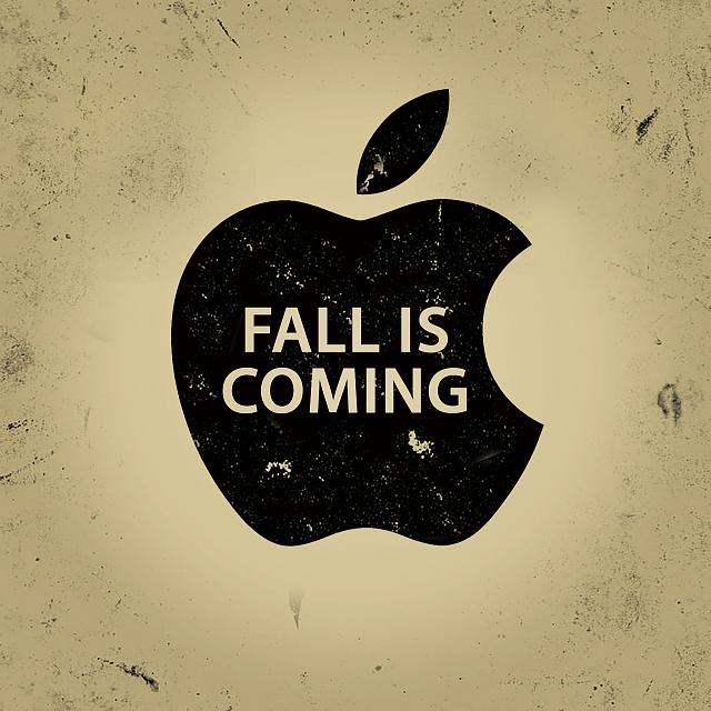 'Fall is Coming' Wallpapers [Apple/Game of Thrones Spoof]-apple_fall_is_coming_gold_2048.jpg