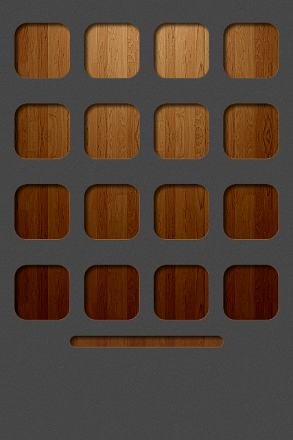 iPhone 4s / 4 - iOS7 wallpapers-graywood.png
