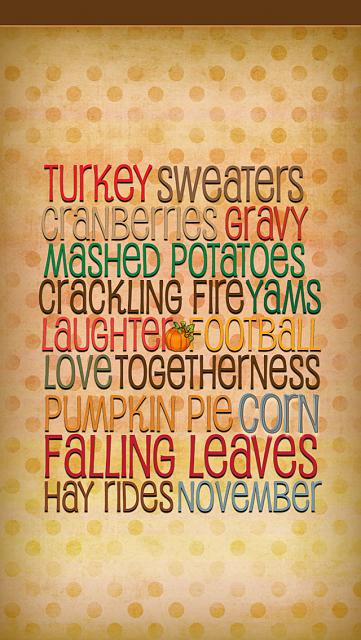 iPhone5s/5c/5 Thanksgiving wallpapers - iPhone, iPad, iPod ...