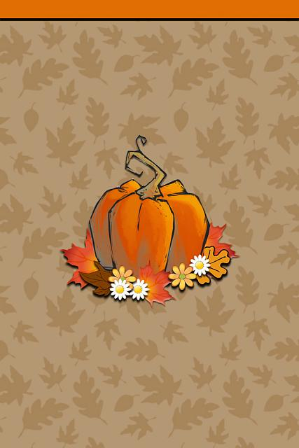 iPhone 4 / 4s Thanksgiving wallpapers-i4_ibabygirthanksgivingpumpkin-leaves.jpg